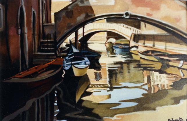 Roberto-Furlan-pittore-gondola